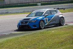 SEAT LEON EURO CUP RACE CAR. MISANO ADRIATICO, Rimini, ITALY - May 10:  A SEAT LEON EURO CUP Royalty Free Stock Photography