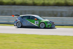 SEAT LEON EURO CUP RACE CAR. MISANO ADRIATICO, Rimini, ITALY - May 10:  A SEAT LEON EURO CUP driven By TRENTIN Mauro (ITA) , Dinamic,  the C.I.Turismo Endurance Royalty Free Stock Images
