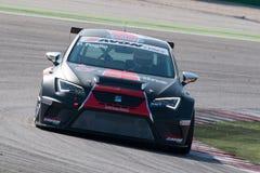SEAT LEON filiżanki EURO samochód wyścigowy obrazy stock