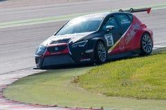 SEAT LEON filiżanki EURO samochód wyścigowy zdjęcie stock