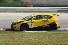 Seat Leon Long Run Race Car Royalty Free Stock Image