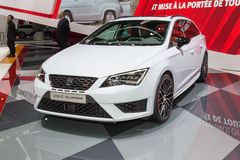 2015 Seat Leon ST Cupra. Geneva, Switzerland - March 4, 2015: 2015 Seat Leon ST Cupra presented on the 85th International Geneva Motor Show Royalty Free Stock Images