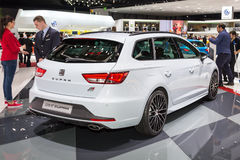 2015 Seat Leon ST Cupra. Geneva, Switzerland - March 4, 2015: 2015 Seat Leon ST Cupra presented on the 85th International Geneva Motor Show Stock Photography