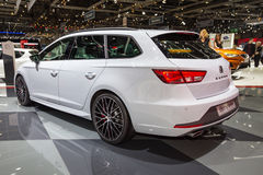 2015 Seat Leon ST Cupra. Geneva, Switzerland - March 4, 2015: 2015 Seat Leon ST Cupra presented on the 85th International Geneva Motor Show Stock Image