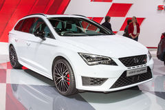 2015 Seat Leon ST Cupra. Geneva, Switzerland - March 4, 2015: 2015 Seat Leon ST Cupra presented on the 85th International Geneva Motor Show Royalty Free Stock Image