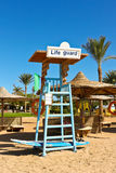 A seat for lifeguard at the beach Stock Photography