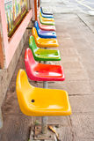 Seat  multiple colors Stock Photography