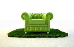 Seat in nature Royalty Free Stock Photography