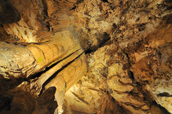 Seat of a nature king - Luray Caves Stock Image