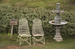 Seat no jardim Imagem de Stock