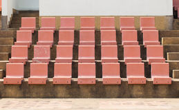 Seat in outdoor stadium Royalty Free Stock Photos