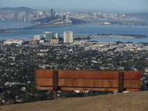 A Seat Over the Bay. A seat overlooking the San Francisco Bay Area Royalty Free Stock Image