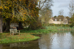 Free Seat Overlooking Deep Ford In Shilton Oxford Stock Photos - 27760063