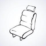 Seat para el coche Gráfico del vector stock de ilustración