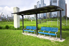 Seat in the park in the city Stock Photography