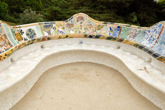 Seat in Park Guell, Barcelona Spain Royalty Free Stock Image
