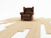 Seat and parquet Stock Images