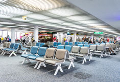 Seat for passengers in  Don Mueang International Airport Stock Images