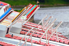 Seat pedal boats Stock Photo