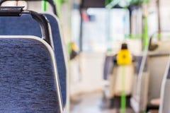 Seat-Plätze im Bus mit Drehkreuz Lizenzfreie Stockfotos