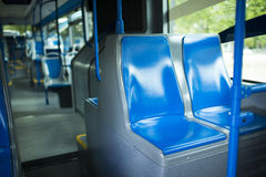 Seat places in modern city bus Royalty Free Stock Images