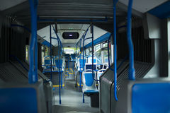 Seat places in modern city bus Royalty Free Stock Photography