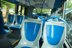 Seat places in modern city bus Royalty Free Stock Image