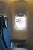Seat on a plane Stock Photo