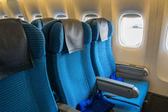 Seat on a plane Stock Photography