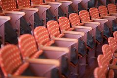 Seat-raws in Palau de la Musica stockbild