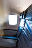Seat Row Airplane Stock Image