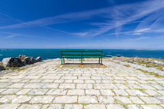Seat by the seaside Royalty Free Stock Photo