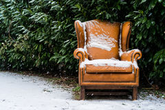 Seat in snow Stock Images