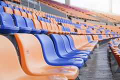Seat for sports in stadium copy space background Stock Photo
