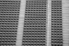 Seat in stadio per fondo e struttura Fotografie Stock