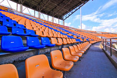 Seat & stadium Royalty Free Stock Photo