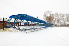 Seat on the stands in winter Royalty Free Stock Images