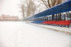 Seat sui supporti nell'inverno Immagini Stock Libere da Diritti