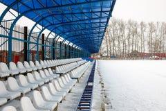 Seat sui supporti nell'inverno Fotografia Stock