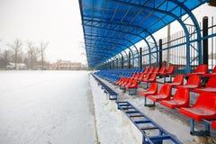 Seat sui supporti nell'inverno Immagine Stock