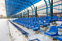 Seat sui supporti nell'inverno Fotografie Stock
