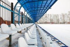 Seat sui supporti nell'inverno Fotografia Stock Libera da Diritti