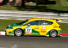 SEAT TDI BTCC Car Plato Stock Images