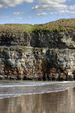 Seat at the top of the cliffs in Ballybunion Royalty Free Stock Images
