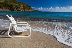 A seat on the waters edge.jpg Stock Image