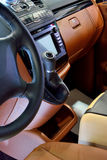 Seat and wheel control of business vehicle Stock Image