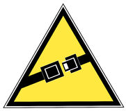 Seatbeat warning sign Stock Images
