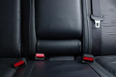 Seatbelt buckles in a car Stock Images