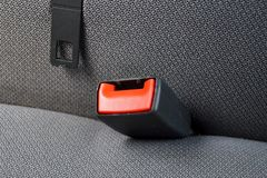 Seatbelt in a car Royalty Free Stock Photo