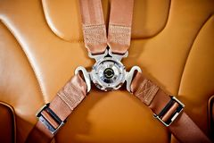 Seatbelt in the private plane Royalty Free Stock Photography
